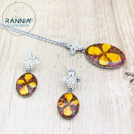 Collar Arete Flor Mandala